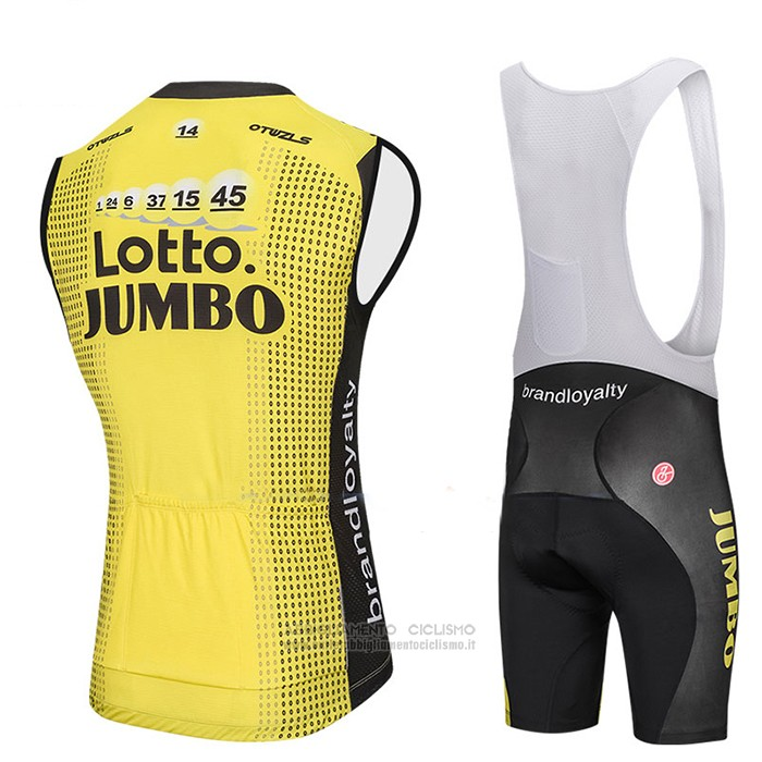 2018 Gilet Antivento Lotto NL Jumbo Giallo